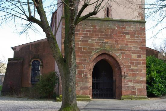 L'église protestante de Dorlisheim...